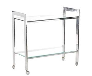 Mid Century Modern Chromed Steel Bar Cart