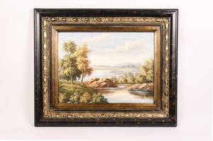 American 20th C Landscape Oil Painting