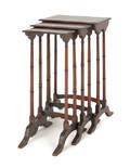 Three Regency style mahogany nesting tables