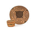 Southwestern coiled basketry tray