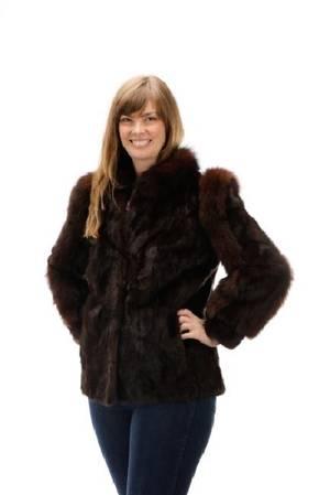 Vintage Brown Mink Short 12 Length Fur Coat