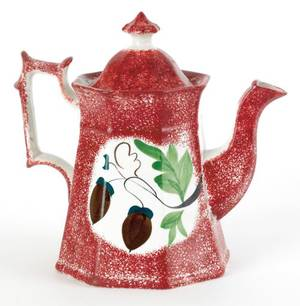 Red spatter coffee pot