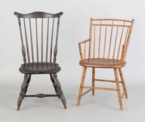 Fanback windsor side chair ca 1795