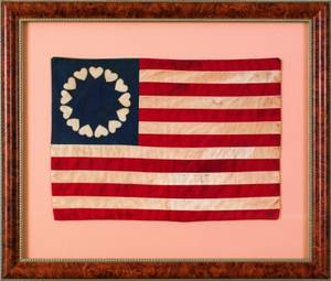 Centennial US thirteen star flag