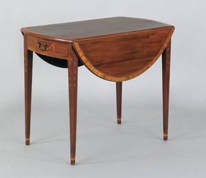 New York Hepplewhite mahogany Pembroke table ca 1795