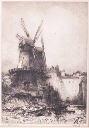 Hedley Fitton Drypoint Etching