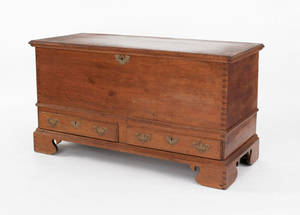 Pennsylvania Chippendale walnut blanket chest late 18th c