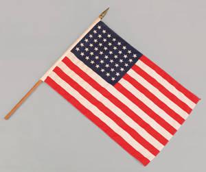 Three 48 star American flags