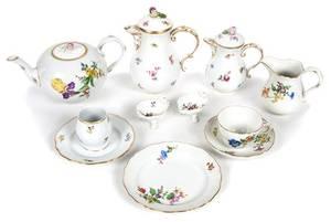 An Assembled Meissen Porcelain Tea and Dessert Service