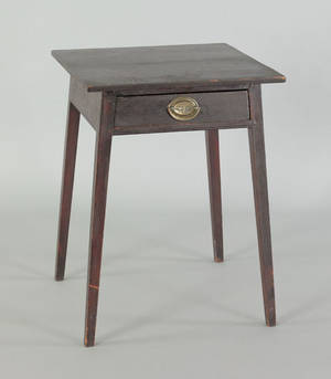 Pennsylvania painted pine end table ca 1820