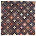 Bucks County Pennsylvania silk pieced quilt ca 1900