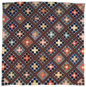Bucks County Pennsylvania silk pieced quilt ca 1900