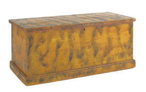 Small Pennsylvania painted blanket chest ca 1820