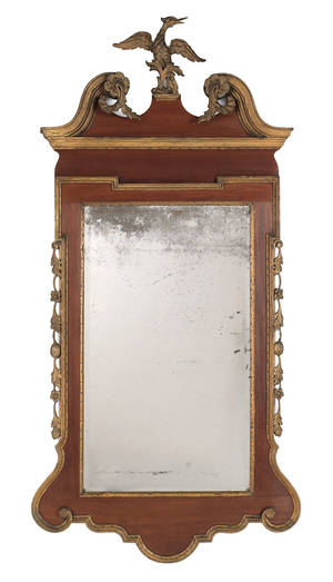 Federal mahogany and giltwood Constitution mirror ca 1800