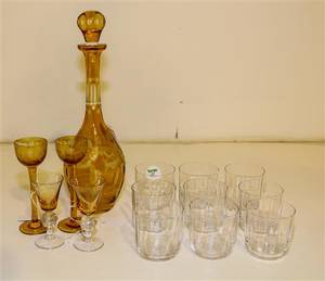 A Collection of Cut Glass Drinking Articles