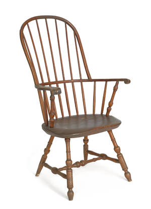 Lancaster County Pennsylvania sackback Windsor chair ca 1780