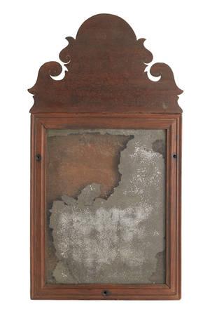 American Queen Anne mahogany mirror ca 1770