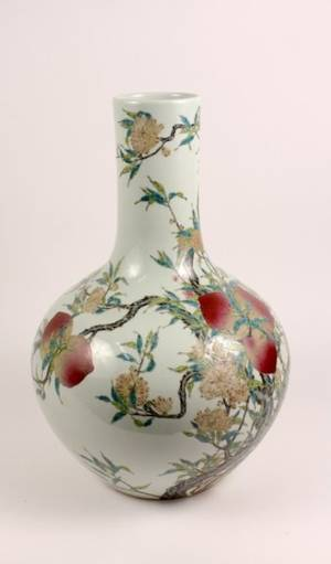Chinese Porcelain Floor Vase with Prunus Motif