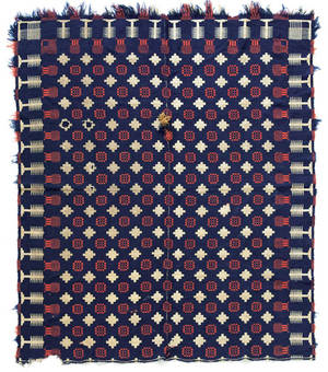 Womelsdorf Pennsylvania jacquard coverlet