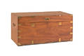 Brass bound mahogany campaign chest