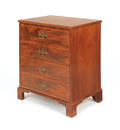 Chippendale style mahogany bachelors chest