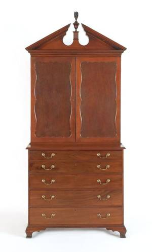 The Chief Justice Tristram Burgess Rhode Island Chippendale mahogany secretary desk ca 1795