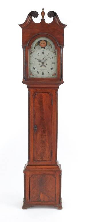 Chester County Pennsylvania Chippendale walnut tall case clock ca 1795