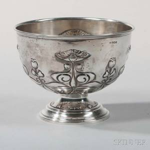 Edward VII Art Nouveau Sterling Silver Footed Bowl
