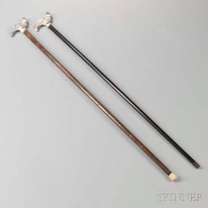 Two Porcelainmounted Canes