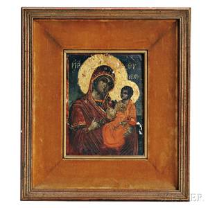 Greek Icon Depicting the Mother and Child