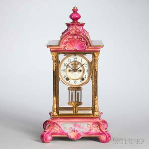 Royal Bonn Porcelain Ansonia Mantel Clock
