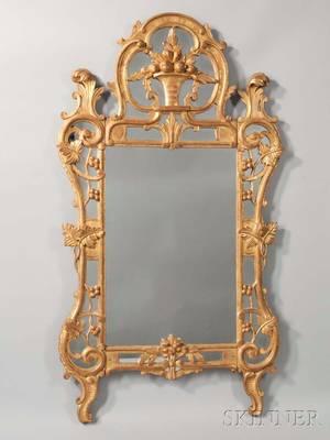 Louis XVstyle Giltcomposite Mirror
