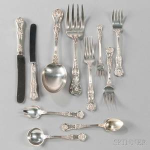 Gorham King George Pattern Sterling Silver Flatware Service