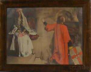 Two Framed Prints After Edwin Austin Abbey Murals at the Boston Public Library