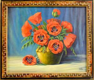 Muriel Danahy American 20th21st Century Still Life with Poppies