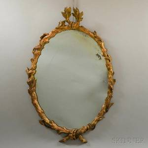 Rococostyle Gilt and Carved Mirror