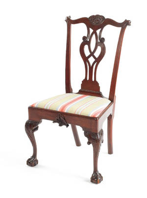 Philadelphia Chippendale mahogany dining chair ca 1770