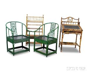 Four Faux Bamboo Items