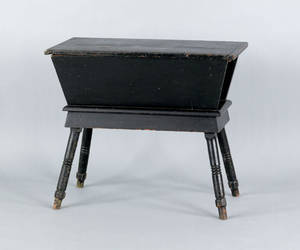 Pennsylvania painted pine dough box on stand 19th c