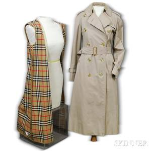 Womens Burberry Tan Trench Coat