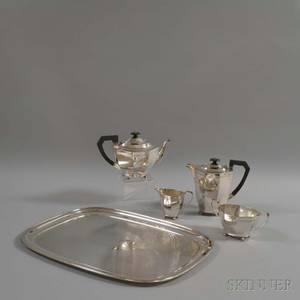 Sheffield Silverplated Fivepiece Tea Set