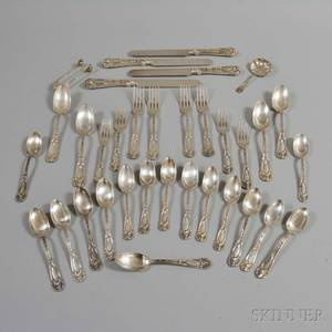 Frank W Smith Oak Sterling Silver Partial Flatware Service for Four