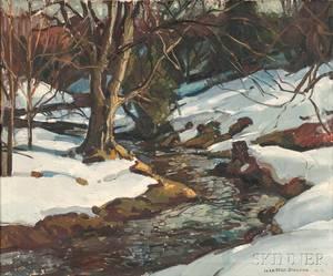 William Lester Stevens American 18881969 Winter Stream