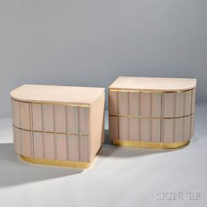 Pair of Contemporary Marbletop Nightstands