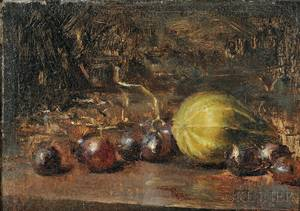 David A Leffel American b 1931 Gourd and Grapes 1