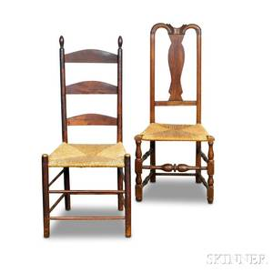Queen Anne Maple Side Chair and a Shaker Maple Side Chair