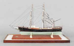 American carved and rigged ship model of the