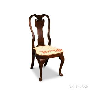 Queen Annestyle Carved Walnut Side Chair