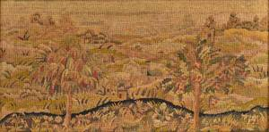 Framed Victorian Needlepoint Picture of a Landscape
