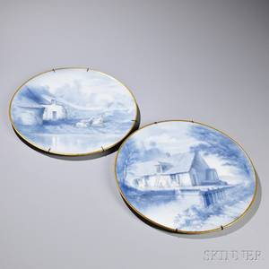 Pair of Limoges Porcelain Chargers